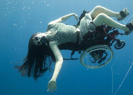 Unterwasser Rollstuhl