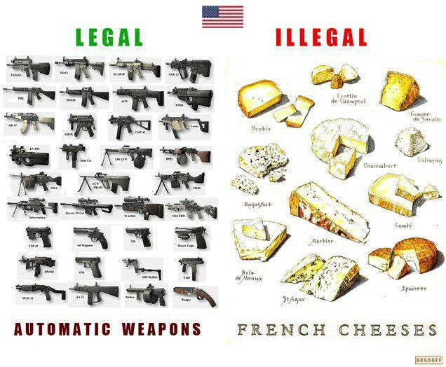 french cheese and guns