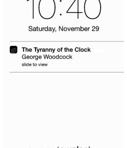 Tyranny of the Clock