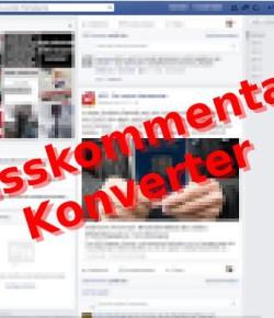Hasskommentar-Konverter für Facebook