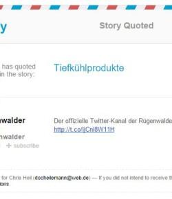 Social Web-Fail: DRLIMA und Rügenwalder